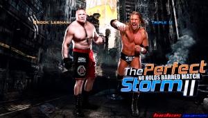 Wallpaper Brock Lesnar vs Triple H %22The Perfect Storm II%22 WrestleMania29