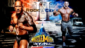 Wallpaper John Cena vs The Rock II WrestleMania 29
