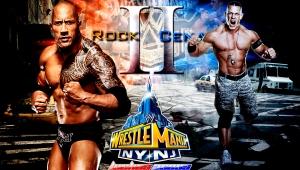 Wallpaper John Cena vs The Rock II WrestleMania 29