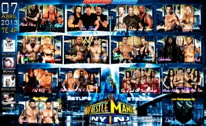 Wallpaper WrestleMania 29 Match Card 2013