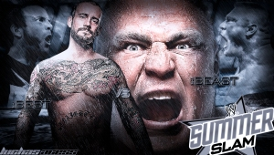 Wallpaper CM Punk vs Brock Lesnar SummerSlam 2013
