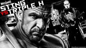 Wallpaper Sting vs. Triple H WrestleMania 31