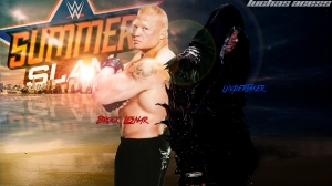 Wallpaper Undertaker vs Brock Lesnar SummerSlam 2015